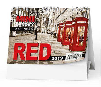 Obrázek Kalendář stolní pracovní  - Red daňový / BSA8