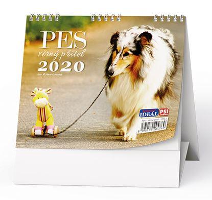 Obrázek Kalendář stolní  - Pes,věrný přítel / BSL7