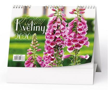 Obrázek Kalendář stolní KVĚTINY -  Květiny/ BSF7