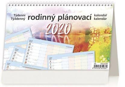 Obrázek Kalendář stolní RODINNÝ PLÁNOVACÍ - Rodinný plánovací / S35