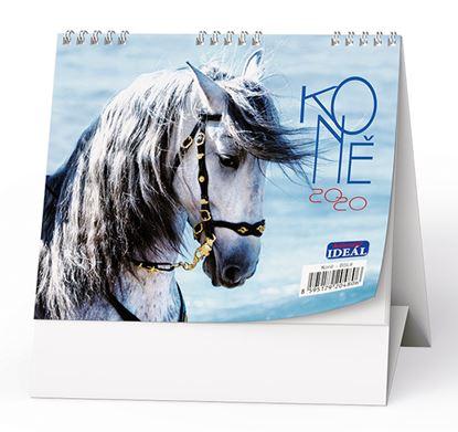 Obrázek Kalendář stolní KONĚ  - Koně / BSL8