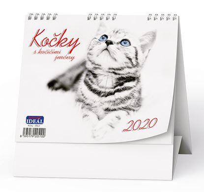 Obrázek Kalendář stolní KOČKY  - Kočky  / BSL9