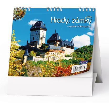 Obrázek Kalendář stolní HRADY, ZÁMKY a PAMÁTKY ČR  -   Hrady,zámky a památky ČR / BSL1