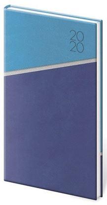 Obrázek Diáře LINE - týdenní kapesní / modro-modrá