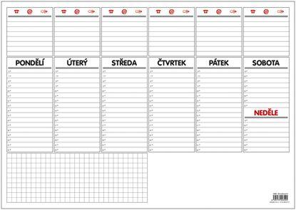 Obrázek Plánovací týdenní stolní mapa -  OS090