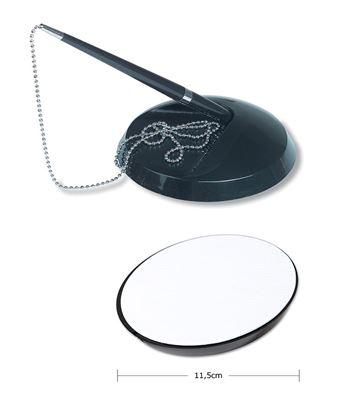 Obrázek Kuličkové pero na stojánku s kov. řetízkem / Concorde / černá