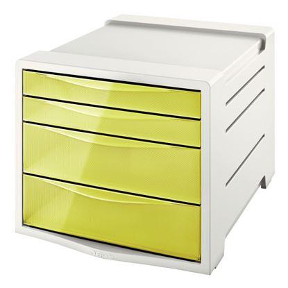 Obrázek Zásuvkový box Colour´Ice - ledově žlutá / 2+2 zásuvky