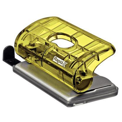 Obrázek Kancelářský děrovač Rapid Colour´Ice FC5 mini - ledově žlutá
