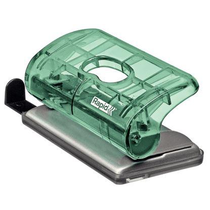 Obrázek Kancelářský děrovač Rapid Colour´Ice FC5 mini - ledově zelená