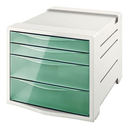 Obrázek Zásuvkový box Colour´Ice - ledově zelená / 2+2 zásuvky