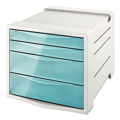 Obrázek Zásuvkový box Colour´Ice - ledově modrá / 2+2 zásuvky