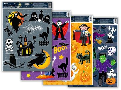 Obrázek Dětské okenní folie 30 x 42 cm - halloween glitr