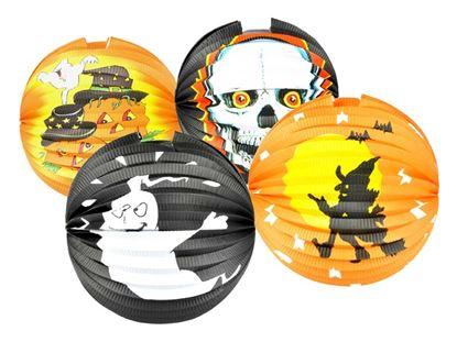 Obrázek Lampiony kulaté 25 cm - mix Halloween