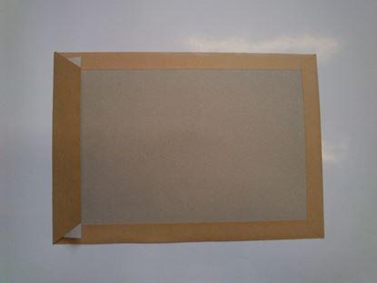 Obrázek Obchodní tašky C4 samolepicí s kartonovou výztuží - hnědá