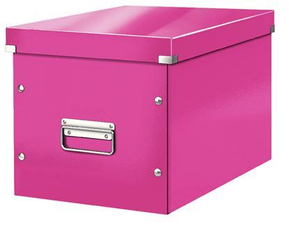 Obrázek Krabice Click & Store - L růžová / bílá