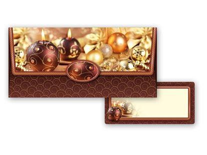 Obrázek Vánoční obálky na peníze - 180 x 85 mm / hnědá