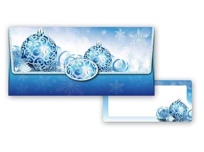 Obrázek Vánoční obálky na peníze - 180 x 85 mm / modrá