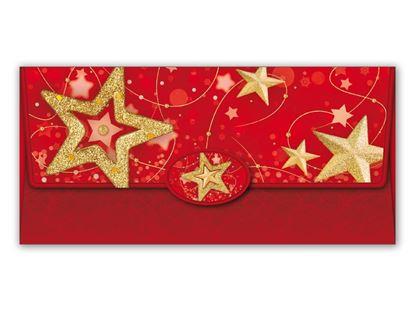 Obrázek Vánoční obálky na peníze - 180 x 85 mm / červená