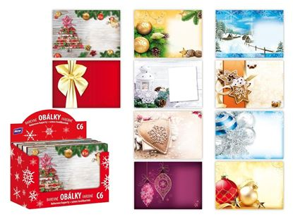 Obrázek Vánoční obálky - C6 / 100 ks, mix motivů