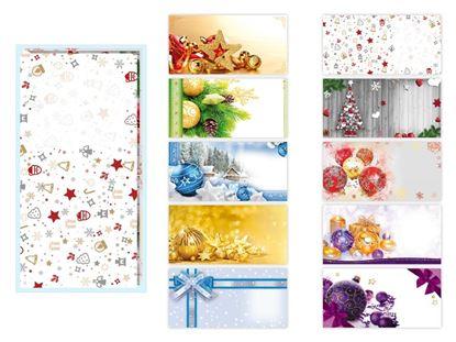 Obrázek Vánoční obállky - DL / 100 ks, mix motivů