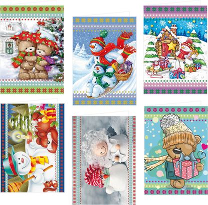 Obrázek Jmenovky na dárky - 50 x 70 mm / 6 ks, mix dětských motivů