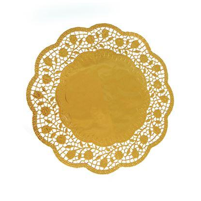 Obrázek Dortová krajka - průměr 30 cm / zlatá