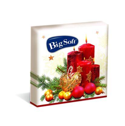 Obrázek Vánoční ubrousky Big Soft - 33 x 33 cm / mix motivů