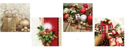 Obrázek Vánoční ubrousky - 33 x 33 cm / mix motivů