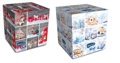 Obrázek Vánoční kosmetické kapesníčky Big Soft - mix motivů