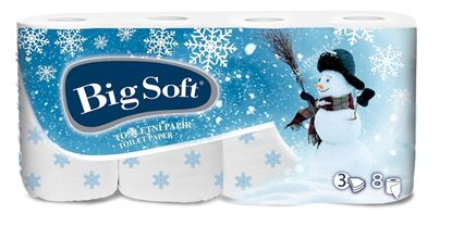 Obrázek Vánoční toaletní papír Big Soft - 8 rolí / Zima