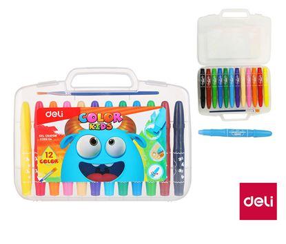 Obrázek Gelové pastelky DELI Color Kids - 12 barev