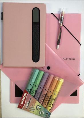 Obrázek Balíček pastelových kancelářských produktů / růžová