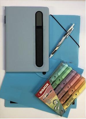 Obrázek Balíček pastelových kancelářských produktů / modrá