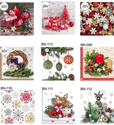 Obrázek Vánoční ubrousky - 3-vrstvé / 15 ks