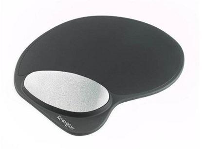 Obrázek Gelová podložka pod myš s opěrkou zápěstí - černá