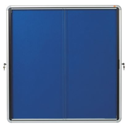 Obrázek Vitrína vnitřní / s posuvnými dveřmi / FAB 12xA4 / modrá
