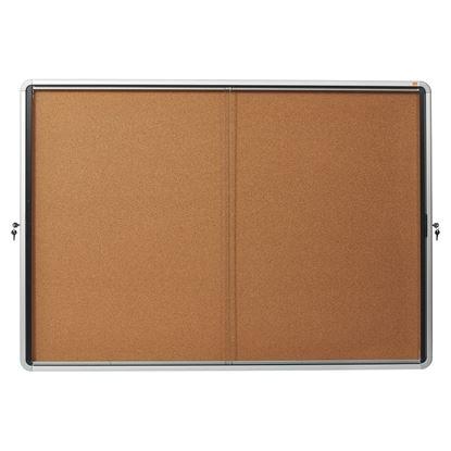 Obrázek Vitrína vnitřní / s posuvnými dveřmi / 18xA4 / korek