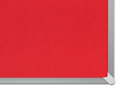 """Obrázek Nástěnka textilní Widescreen 55"""" / červená"""