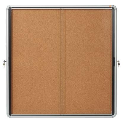 Obrázek Vitrína vnitřní / s posuvnými dveřmi / 12xA4 / korek