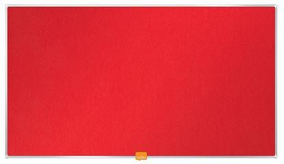 """Obrázek Nástěnka textilní Widescreen 32"""" / červená"""