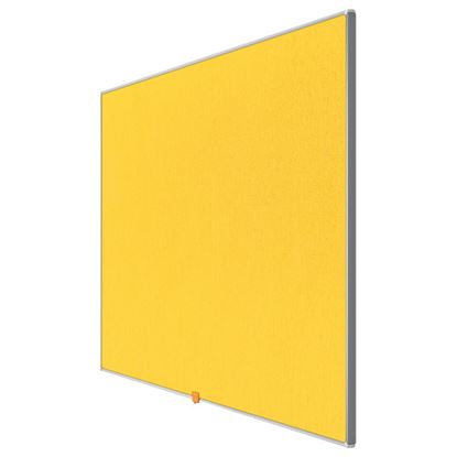 """Obrázek Nástěnka textilní Widescreen 55"""" / žlutá"""