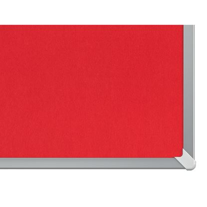 """Obrázek Nástěnka textilní Widescreen 85"""" / červená"""