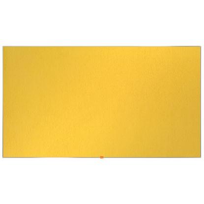 """Obrázek Nástěnka textilní Widescreen 85"""" / žlutá"""