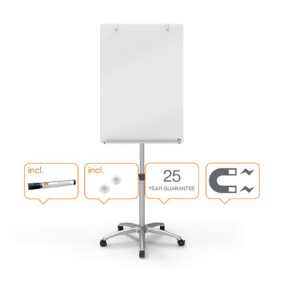 Obrázek Tabule Flipchart Diamond - mobilní  / skleněná
