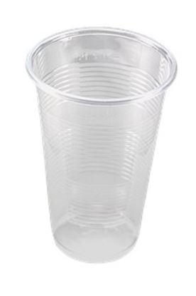 Obrázek Kelímek plastový - transparentní / 3 dcl / 100 ks