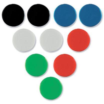 Obrázek Magnety - průměr 20 mm / barevný mix / 10 ks