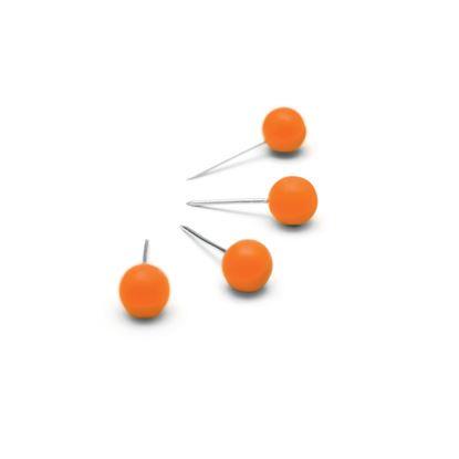 Obrázek Připínáčky oranžové / 100 ks