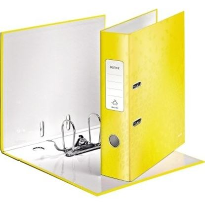 Obrázek Pořadač A4 pákový 180° WOW - hřbet 8 cm / žlutá