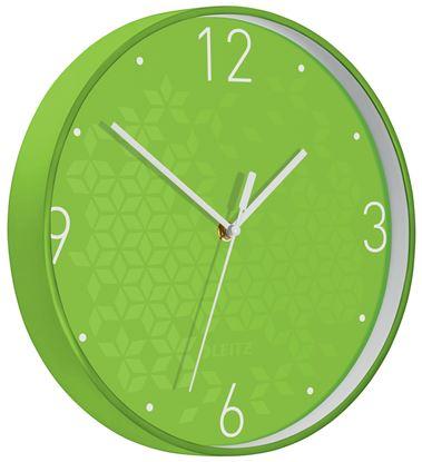 Obrázek Leitz WOW nástěnné hodiny tiché zelená