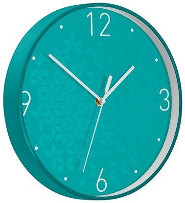 Obrázek Leitz WOW nástěnné hodiny tiché tyrkysová